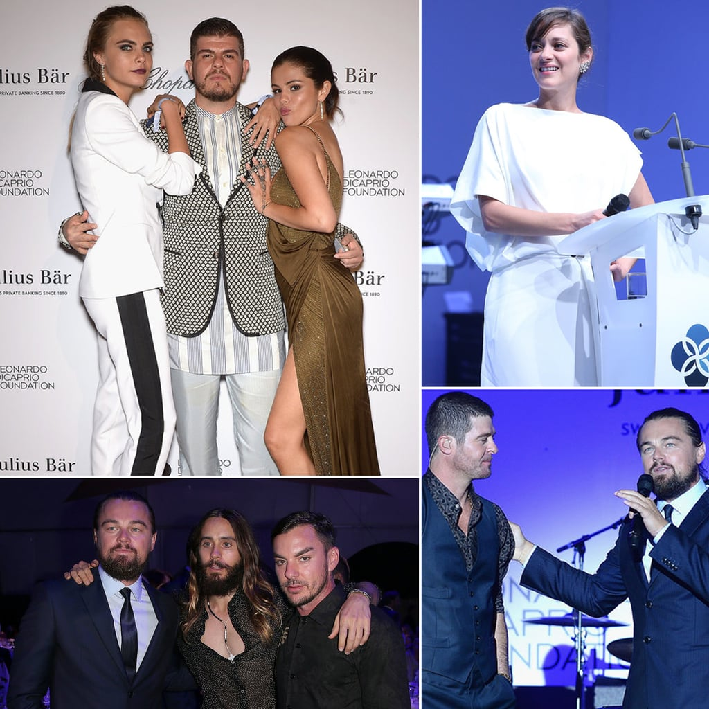Leonardo DiCaprio and Selena Gomez at Gala in Saint-Tropez