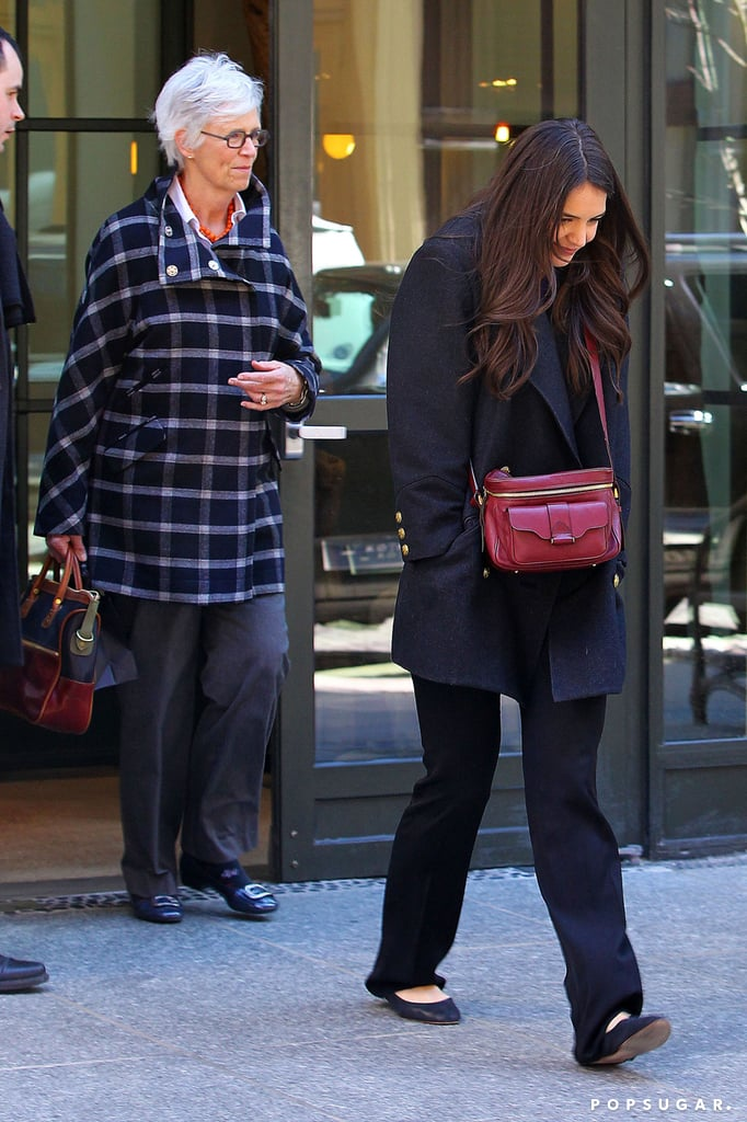 Katie Holmes spent time with her mom in NYC.