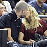 Shakira and Gerard Piqué kissed in the stands.