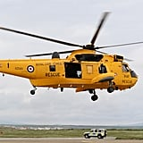 Prince Williams showed off his RAF Rescue helicopter.