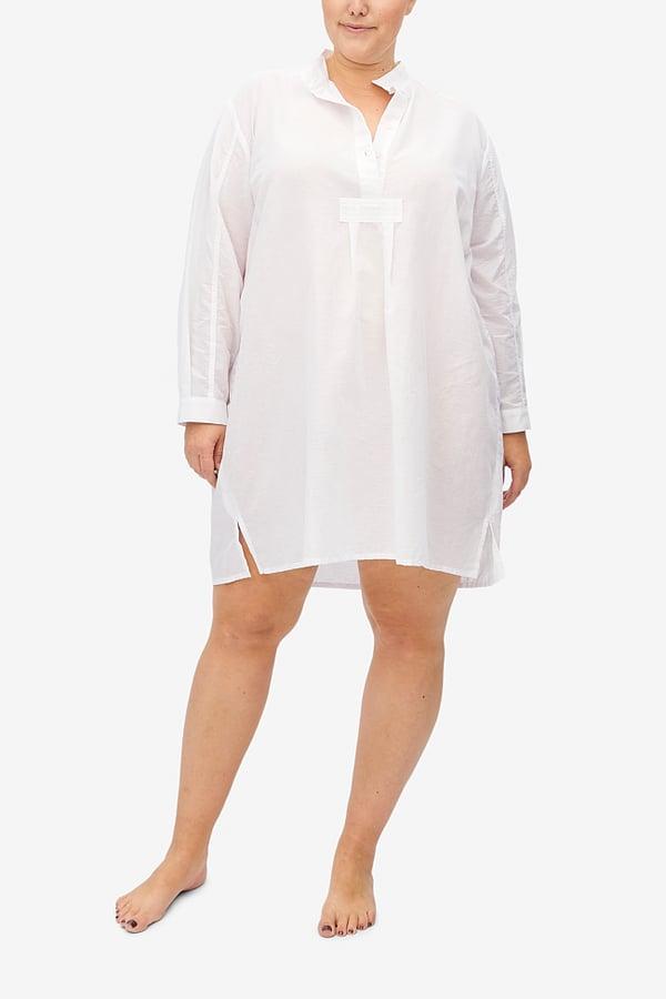 The Sleep Shirt Plus Short Milano Featherweight Blend Sleep Shirt