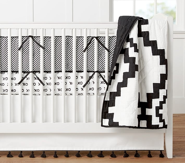 Nursery Quilt Bedding Set: Quilt, Crib Fitted Sheet, and Crib Skirt