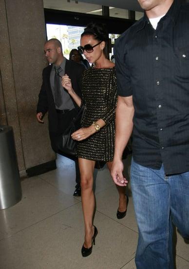 Victoria Beckham catching a flight out of LAX