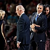 Michelle couldn't keep her hands off the president.