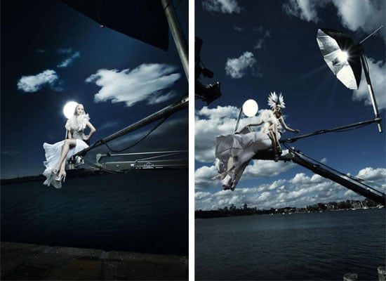 Pictures of Australia's Next Top Model Crane Shoot By Hugh Stewart: See the Top Four on Cockatoo Island!