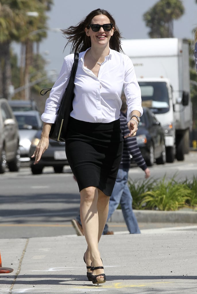 Jennifer Garner sported a pair of black heels for a meeting in LA.