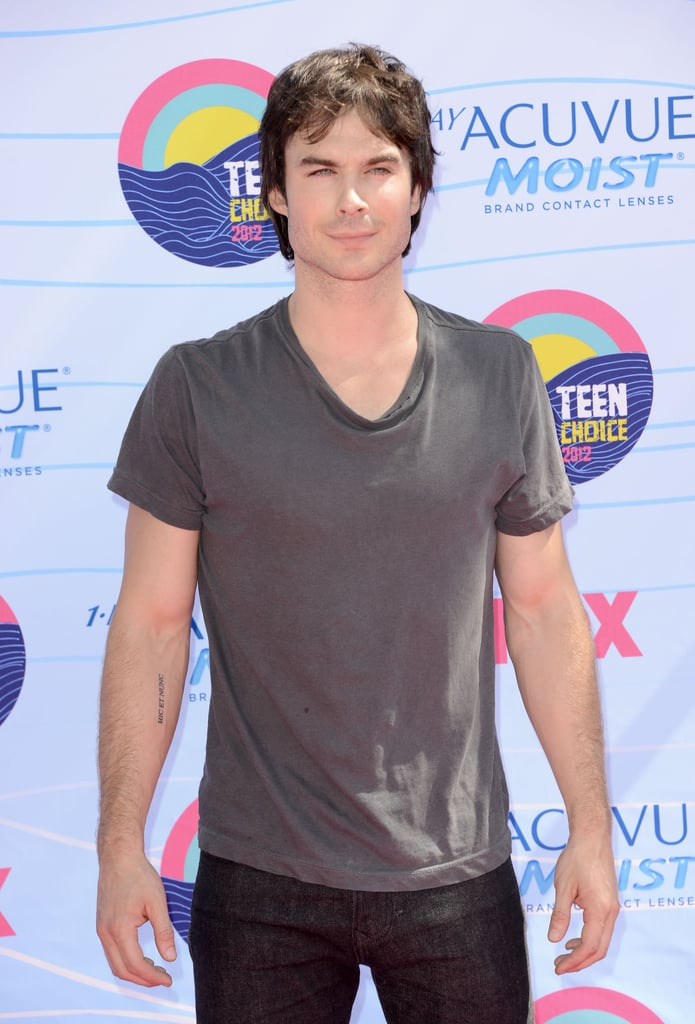 Nina Dobrev and Ian Somerhalder at the Teen Choice Awards