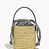 Madewell x Indego Africa Gingham Bucket Bag