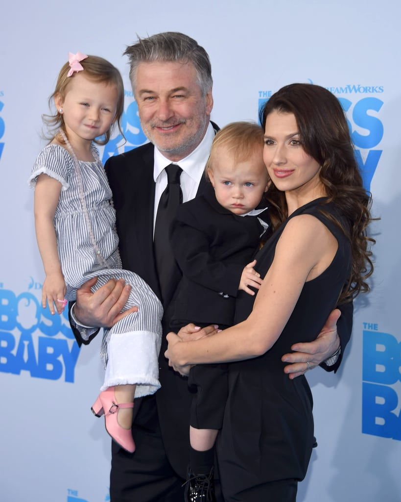"Alec Baldwin had his beautiful family by his side at the NYC premiere of Boss Baby on Monday night. Alec — who is known for his spot-on impersonations of Donald Trump — was joined by wife Hilaria and two of their children, 3-year-old Carmen and 1-year-old Rafael. The brood gathered for photos together on the blue carpet, and we caught an adorable glimpse of Alec's bond with Carmen as they copied each other's poses. To make matters even cuter, the proud parents dressed little Rafael in a black suit nearly identical to the one Alec's character wears in the animated film. ""We have our very own #BossBaby #RafaelThomas,"" Hilaria captioned a snap of the tiny tot on Instagram. Missing from the fun, though, was their 6-month-old son, Leonardo. If these pictures don't melt your heart, then we don't know what will."