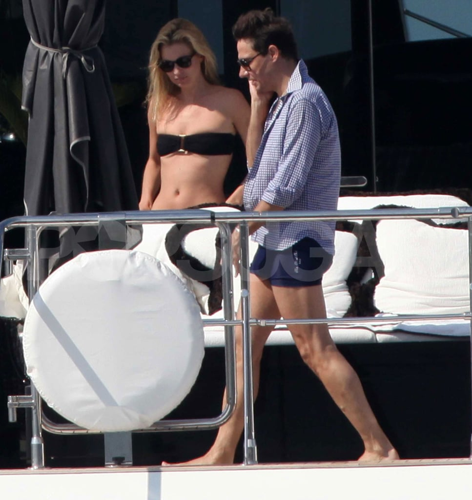 Kate Moss and Jamie Hince looked ready to take a dip in the water.