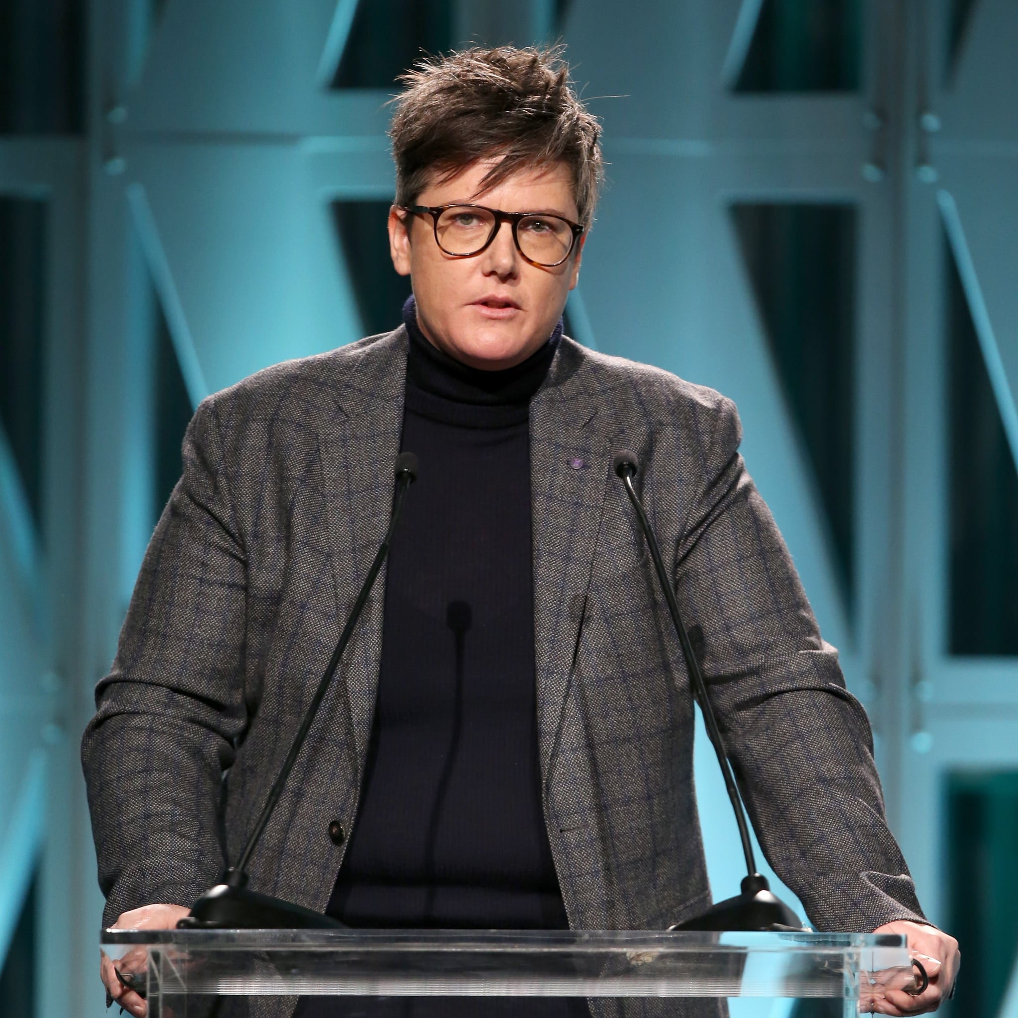 LOS ANGELES, CA - DECEMBER 05:  Hannah Gadsby speaks onstage during The Hollywood Reporter's Power 100 Women In Entertainment at Milk Studios on December 5, 2018 in Los Angeles, California.  (Photo by Jesse Grant/Getty Images for The Hollywood Reporter )