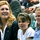 The Yorks took in a tennis match at Buckingham Palace in 2000.