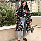 Brocade Trench Coat: Running Around Town in a Graphic Tee and Leopard Loafers