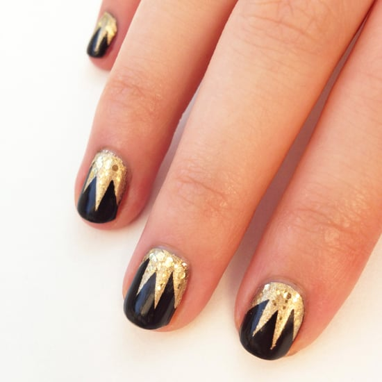Art Deco Nail Art Design Popsugar Beauty