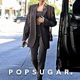 Hailey Bieber Wearing a Mandkhai Cashmere Set in LA