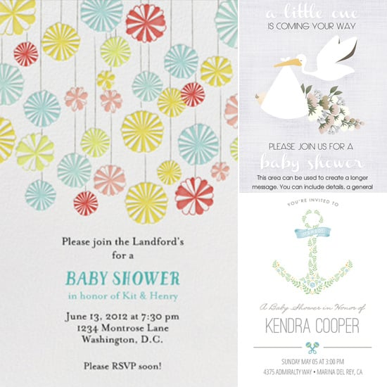 digital baby shower invitations  popsugar moms, Baby shower