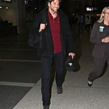 Bradley Cooper had a smile on his face at LAX.