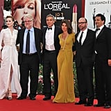 George Clooney, Marisa Tomei, Evan Rachel Wood and their The Ides of March costars in Venice.