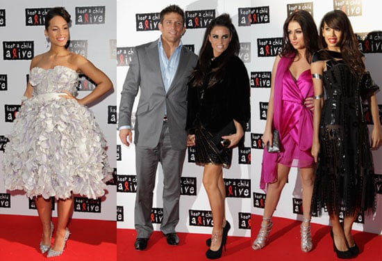 Pictures of Pregnant Alicia Keys, Katie Price, Alex Reid, Jade Ewen, Gabriella Cilmi at Keep a Child Alive Black Ball