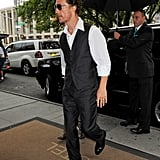 Matthew and Levi McConaughey arrived at the Empire Hotel in NYC.