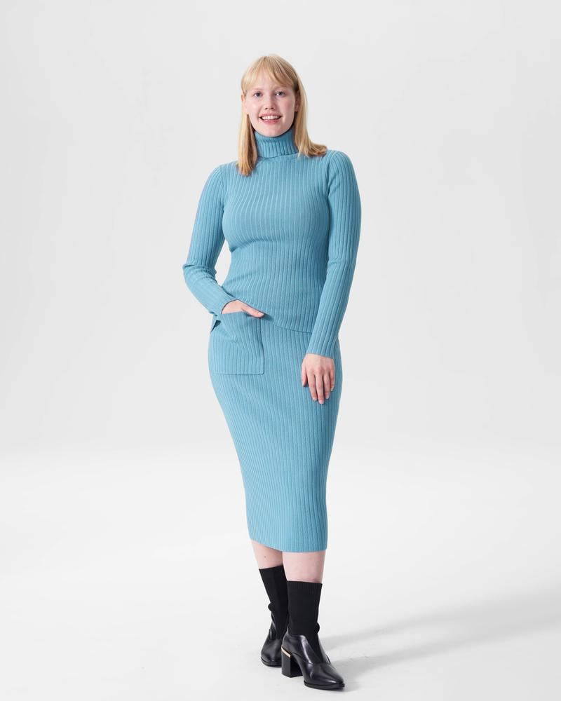 Universal Standard Ana Ribbed Sweater Skirt With Pocket