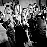 Models line up ready for the Zuhair Murad show.
