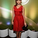 Sarah Hyland was a lady in red lace at the Variety and Women in Film pre-Emmys event in LA.