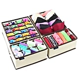 Ticent & Co Bra Underwear Drawer Organiser