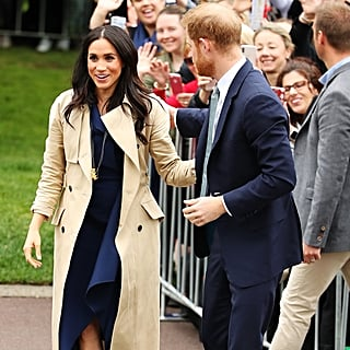 Meghan Markle Navy Dion Lee Dress Melbourne