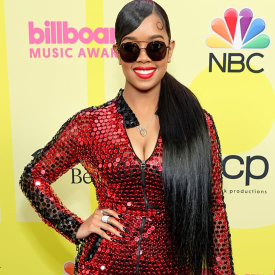 H.E.R.'s Red Sequin Dior Jumpsuit at Billboard Music Awards