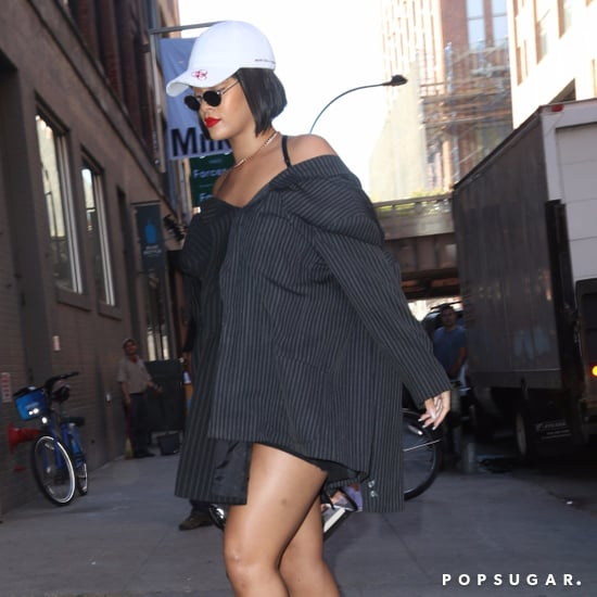 Rihanna Wearing Off-White Plastic Heels