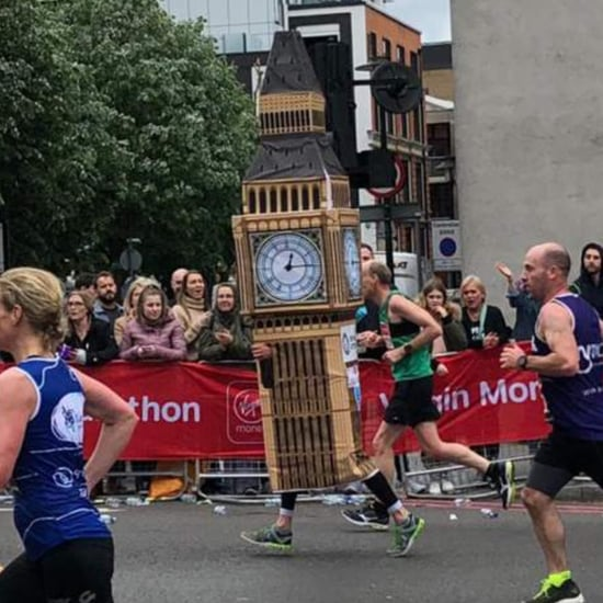 London Marathon Runner Dressed As Big Ben