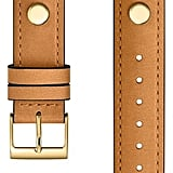 Rebecca Minkoff Gold Tone Biker Stud Leather Guitar Strap