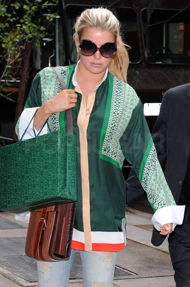 Pictures of Jessica Simpson at Balthazaar in NYC