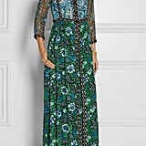 Anna Sui Printed Crinkled Silk-Chiffon and Twill Maxi Dress ($820)