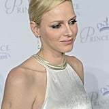 Princess Charlene opted for a backless gown to attend the gala.