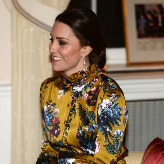 Kate Middleton's Gold Floral Erdem Dress