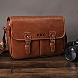 Personalized Leather DSLR Camera Bag