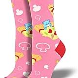 Bedtime Bear Pizza Socks