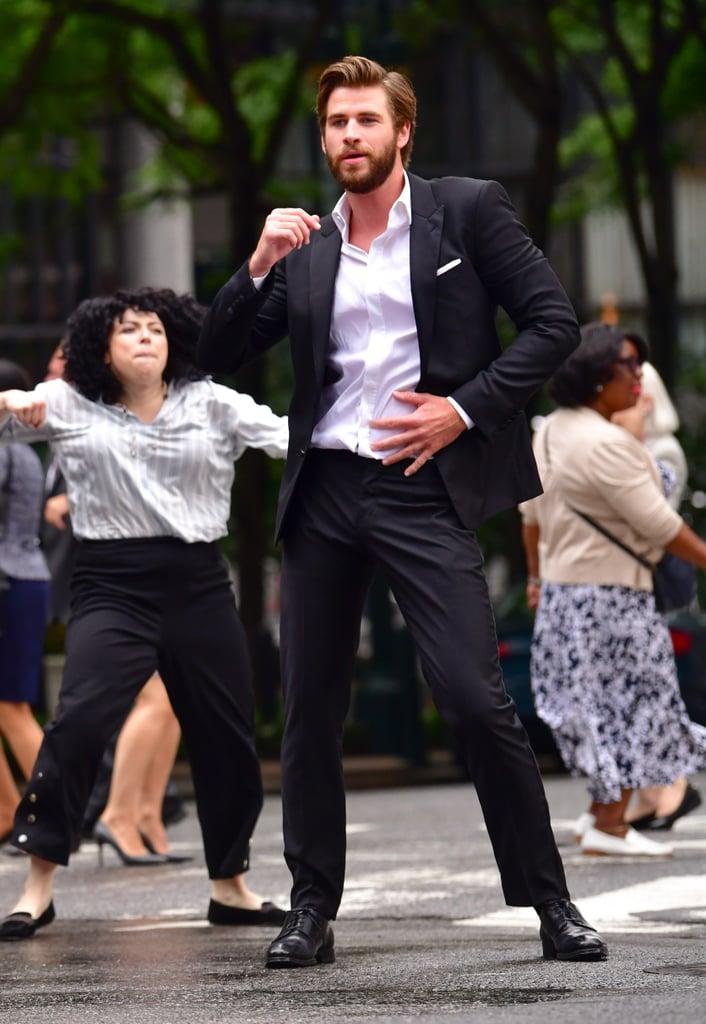 Liam Hemsworth on Isn't It Romantic Set Pictures July 2018