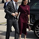 Meghan Carried a Chic Cuyana Bag When She Headed From Australia to New Zealand