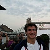 Nathan Adrian toured London on foot. Source: Instagram user nathangadrian