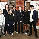 The brood flashed their biggest smiles during a special screening of Netflix's The Boy Who Harnessed the Wind in NYC in February 2019.