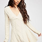 Free People Cables And Castles Sweater Dress