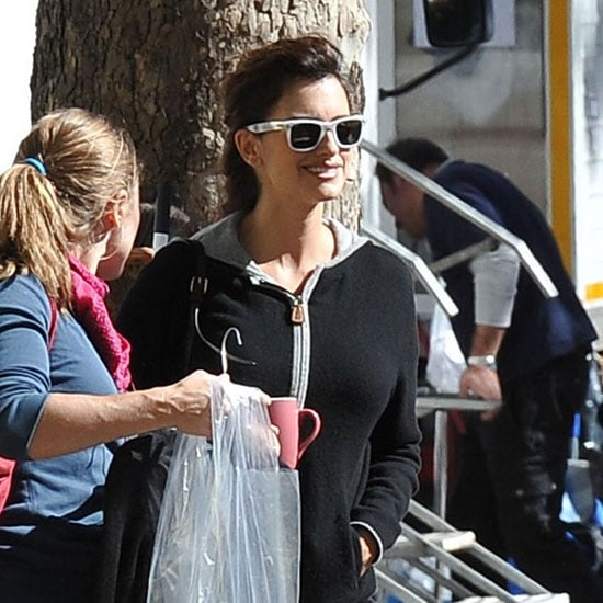 Penelope Cruz on Set in Rome Pictures