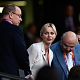 Prince Albert and Princess of Charlene of Monaco got seated at the opening ceremony.