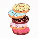 Vintage Style Multicolor Donut Stack Enamel Pin