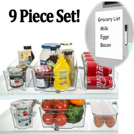 Refrigerator Stackable Storage Organizer Bins