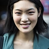 Shades of pink clearly works on eyes, cheeks, and lips. Source: Le 21ème | Adam Katz Sinding