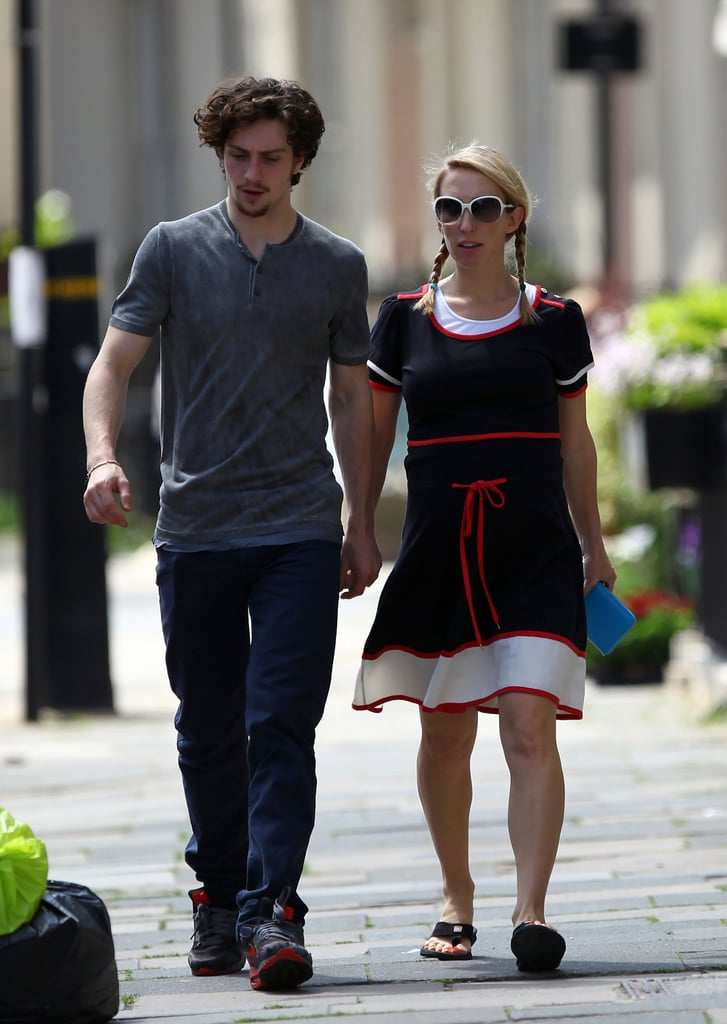 Pictures of Aaron Johnson and Pregnant Sam Taylor-Wood